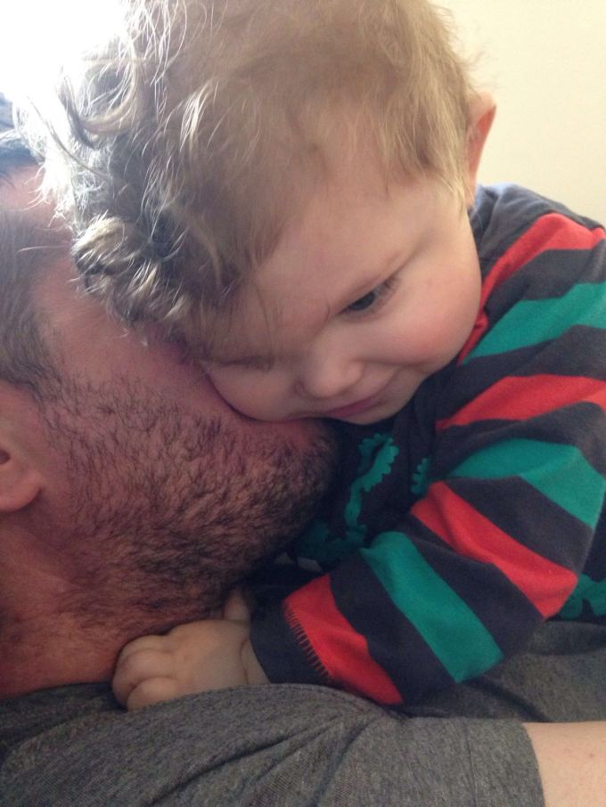 Cuddles with daddy