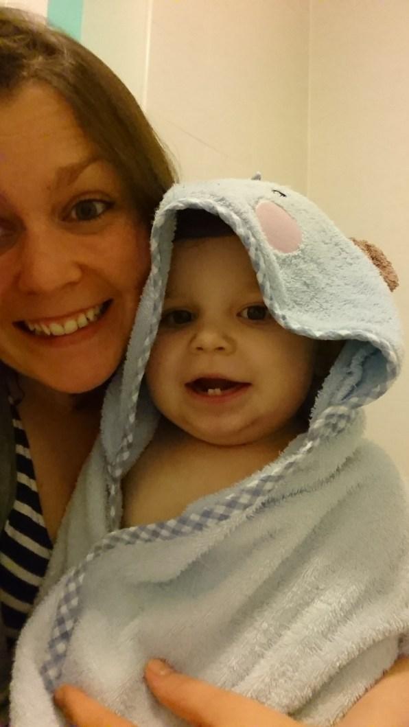 Loving his baths now :)