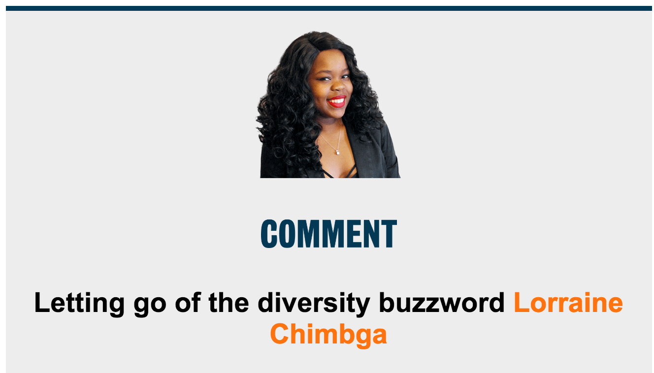 Letting go of the diversity buzzword