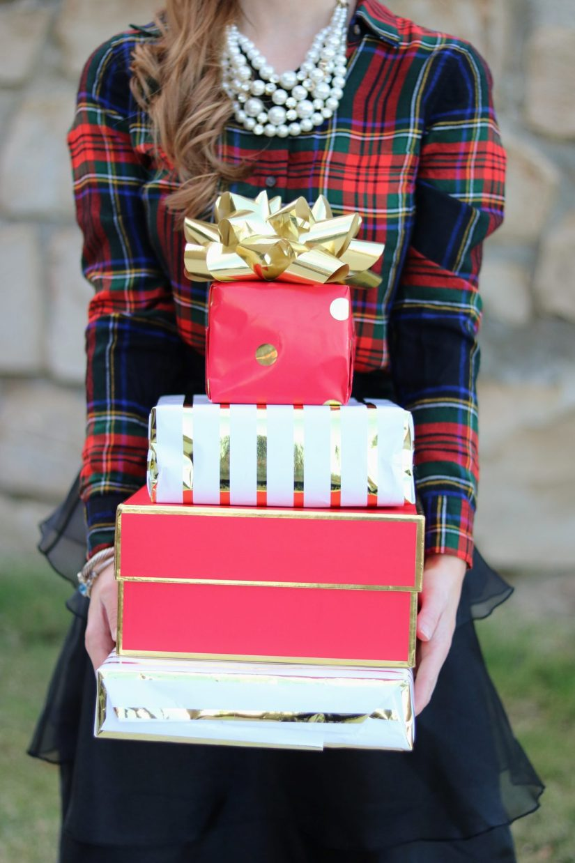 gift guides for women | mixing patterns | what to buy a girly girl for Christmas | Christmas gift ideas | Christmas outfit