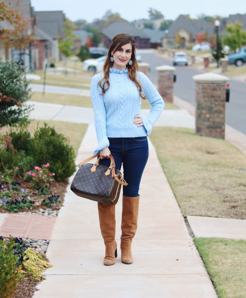 cable-knit-ruffle-sweater