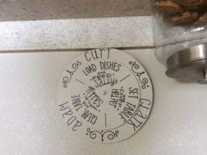 Kitchen Chore Wheel