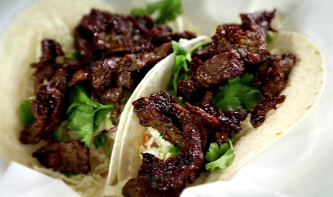 Food network archives life of a shooters wife korean bulgogi tacos with asian slaw ingredients 4 small petite sirloin steaks 3 lbs soft flour tortillas prep steak 1 cut steaks into about 18 forumfinder Gallery