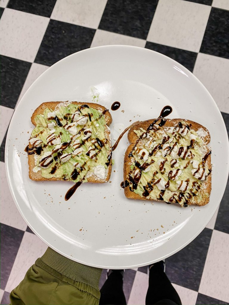 cream cheese avocado toast