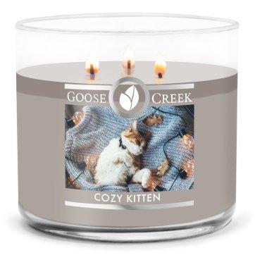 goosecreek cozy kitten candle