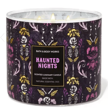 bath and body works haunted nights fall candle