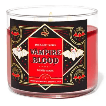 bath and body works vampire blood fall candle