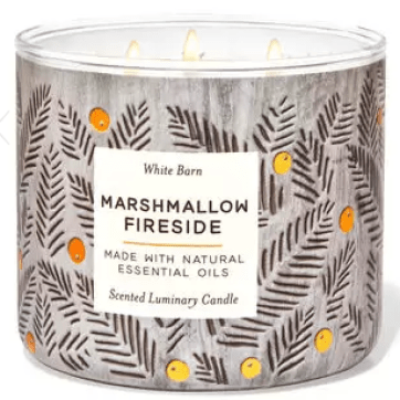 bath and body works marshmallow fireside fall candle