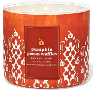 bath and body works pumpkin pecan waffles fall candle