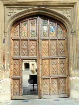 Oriel college door