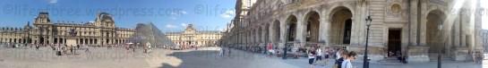 paris louvre courtyard