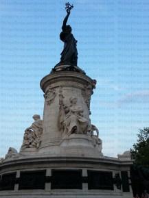 Place de la République in Paris, France