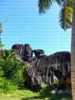 Kissing rock, La Digue island, Seychelles