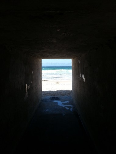 Tunnel to enter Danger beach, St James, Cape Town, South Africa.