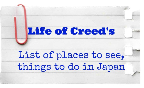 List of places to see, things to do in Japan