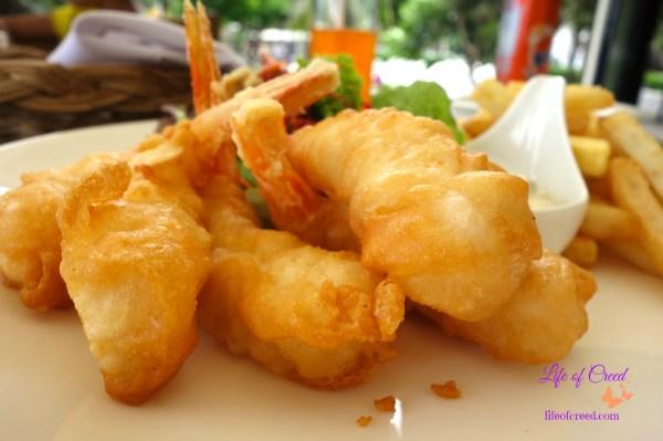 Thailand, Phuket, Katathani hotel, seacret, fried prawns