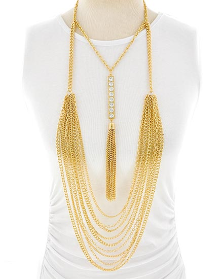 gold necklace, The Wig Closet, Life of Creed, statement necklace