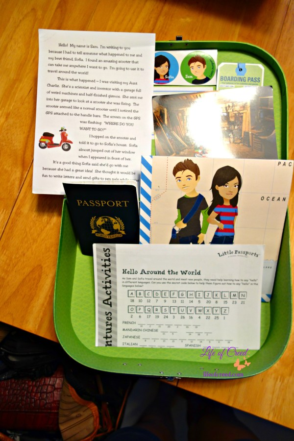 Little Passport suitcase, Same & Sofia, travel, passport, stickers,