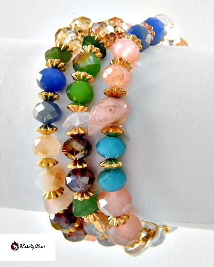 These bracelets will look great with your business suit or with jeans.