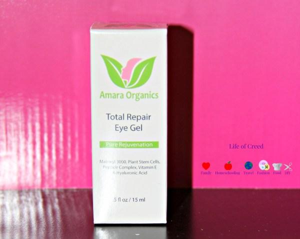 Amara Organics Total Repair Eye Gel Review via @LifeofCreed