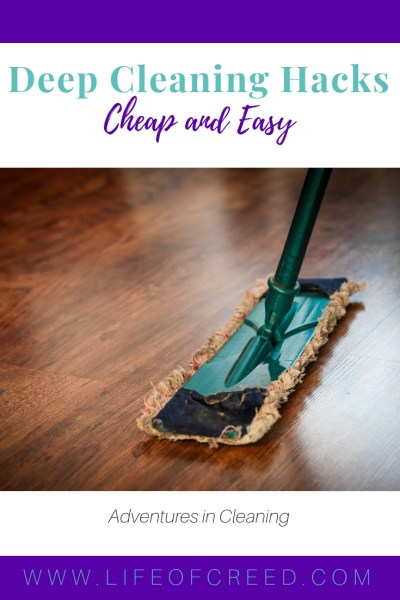 Cleaning hacks to help making cleaning easier.