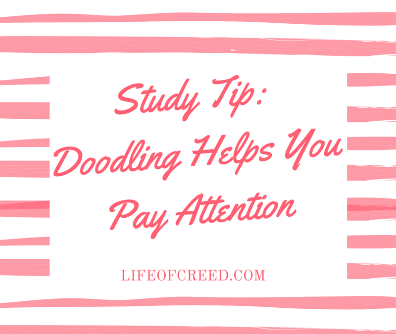 Study Tip: Doodling Helps You Pay Attention
