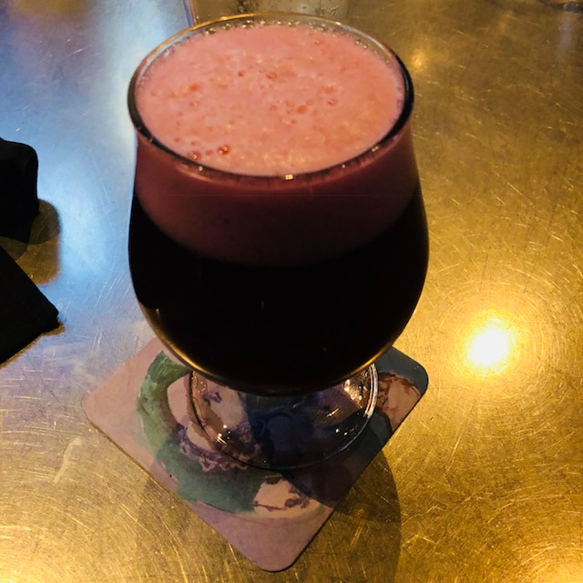 The next day, I decided to eat at Yard House again, its good food. So I couldn'tresist. I ordered the calamari, pork lumpia, and also a Lindman's Framboise. - Yard House at Red Rock Casino, Resort, and Spa