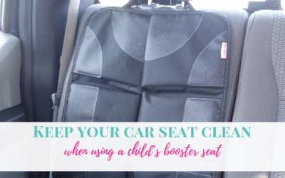 Keep your car seat clean when using a child's booster seat