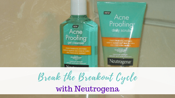 Break the Breakout Cycle with Neutrogena - How can you break the breakout cycle??? It that can be done with the help of Neutrogena. I'm review the Neutrogena Acne Proofing Gel Cleanser and the Acne Proofing Daily Scrub Cream.