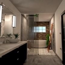 bathroom design,ensuite,rainfall,ladder,towel, interior design, orangeville, shelburne, ontario, dufferin county