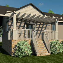 lattice, trellis, front porch, porch, steps, front steps, front door, entry, roof, roofline, roof line, pillar, pillars, railing, railings, portico, interior design, orangeville, shelburne, ontario, dufferin county