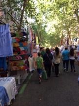 The famous flea market in Madrid.