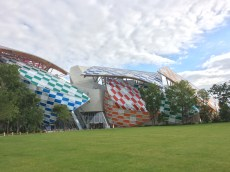 The exterior of the Fondation LV, designed by Frank Gehry