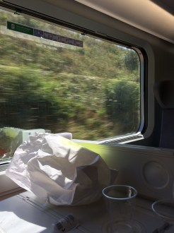 On the train to Annecy