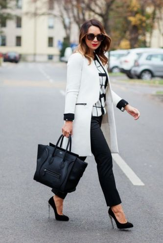 Workwear Ideas: Black trousers and White Coat | Life of Lala | https://lifeoflala.wordpress.com/