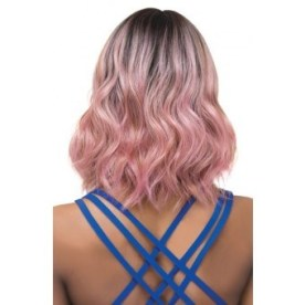 Short, Wavy, Pink Ombre Hair