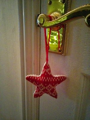 Door handle Christmas decorations