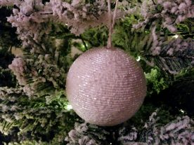 John Lewis white beaded bauble