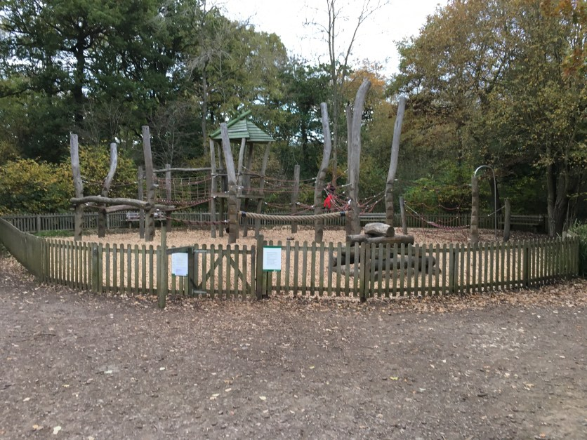 Childrens play area at Salcey Forest