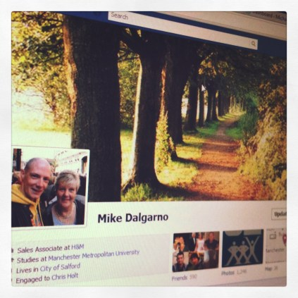 Today is all about...trying out the new Facebook timeline