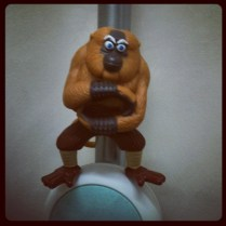 Today is all about...spending too much time at work that I notice the urinal mascot