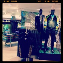 Today is all about...setting up Versace @ H&M
