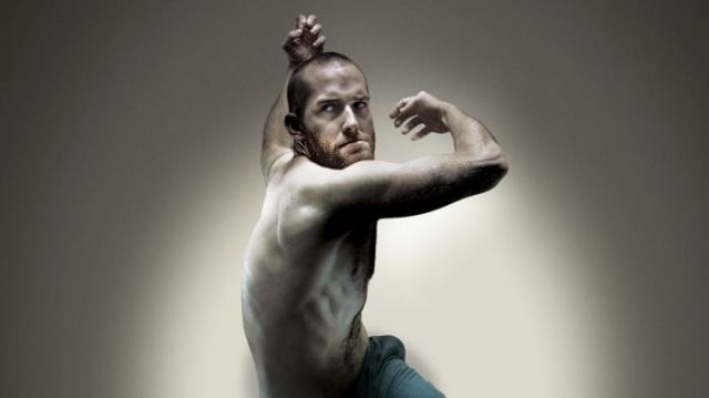 Hannes Langolf, actor who plays John, in the middle of a dance pose
