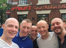 5 guys having a selfie