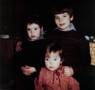 Myself with my brother and sister as kids