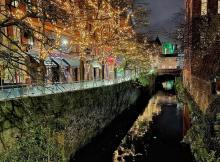Canal Street, Manchester at night