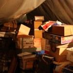 A messy loft