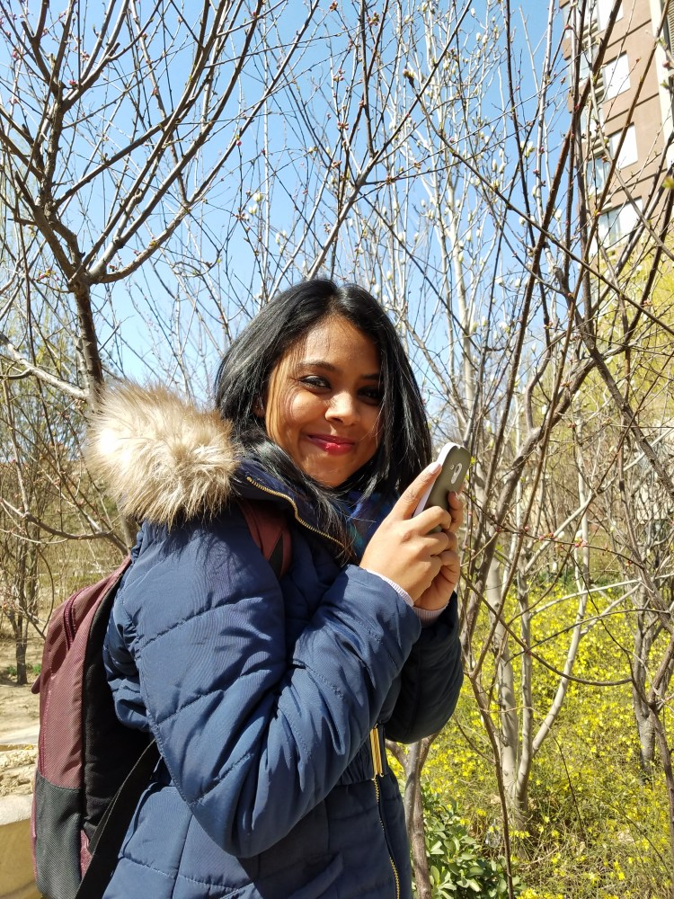 Beijing flowers, cosy jacket, Chinese winter, travelling for 2.5 years, living abroad