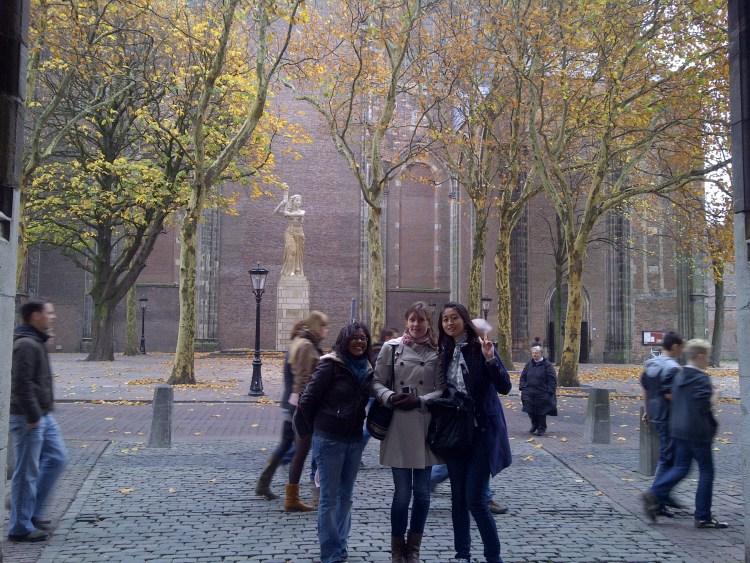 Utrecht Park. Utrecht City Centre, Autumn leaves