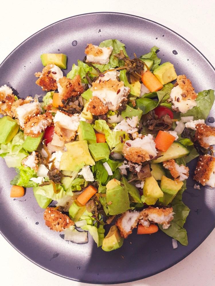 salad, eating healthy, fish salad, avocado